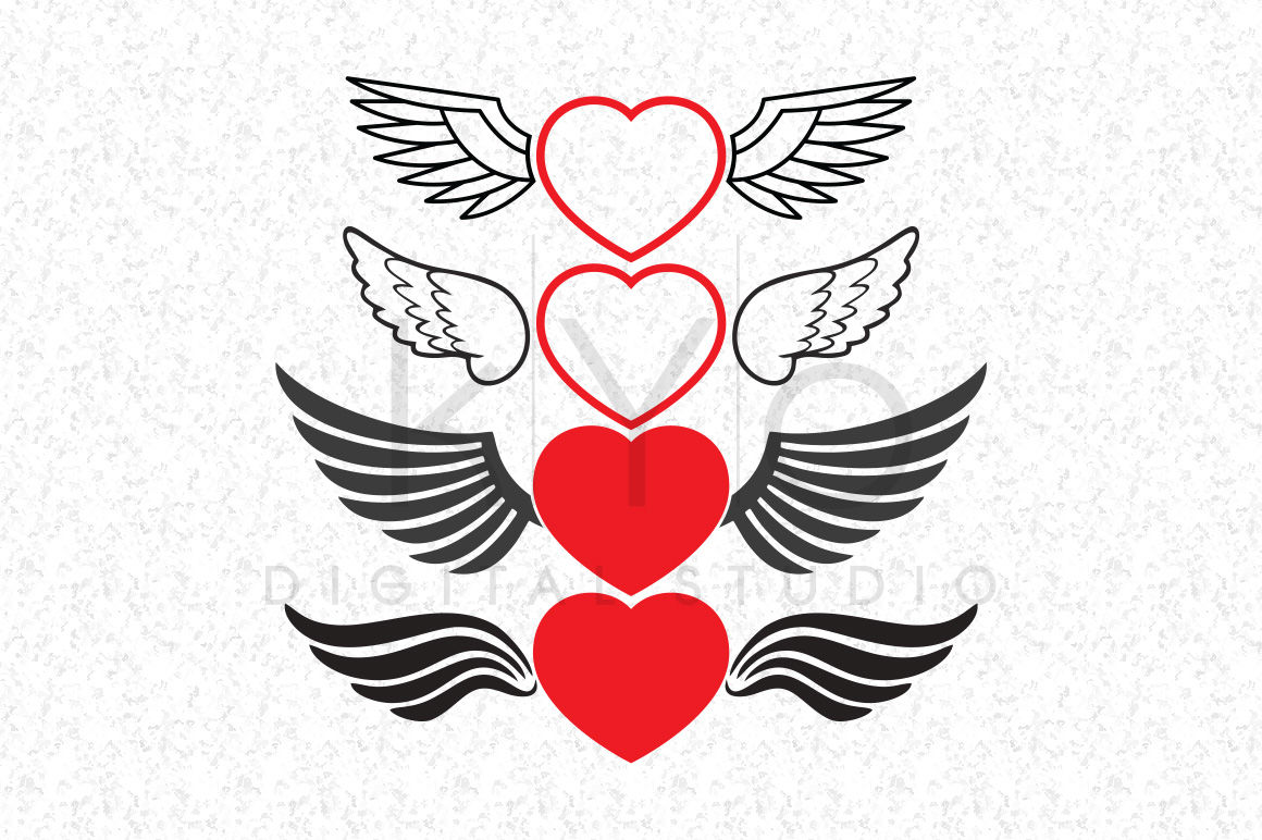 heart with wings svg #641, Download drawings