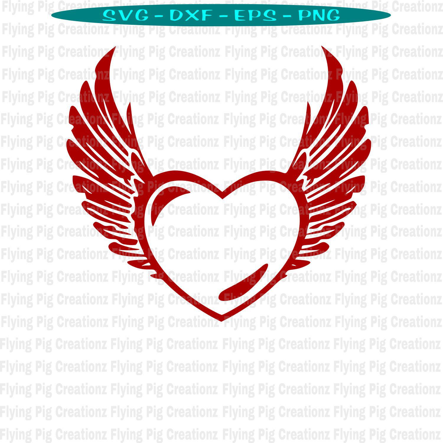 heart with wings svg #647, Download drawings