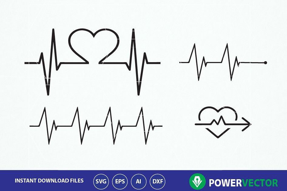 heartbeat line svg #597, Download drawings