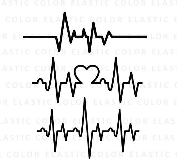 heartbeat line svg #598, Download drawings