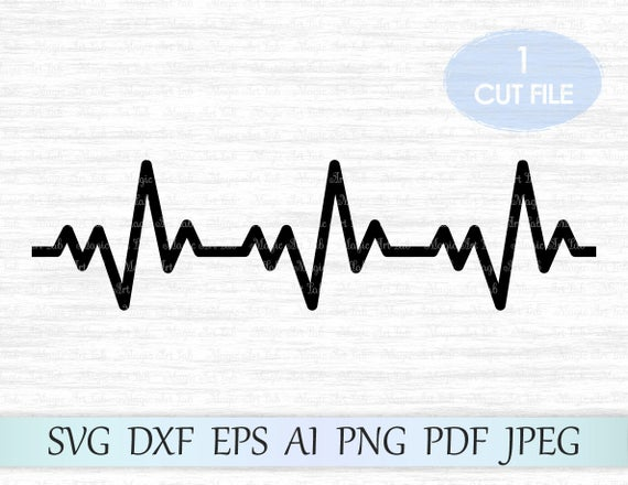 heartbeat line svg #605, Download drawings