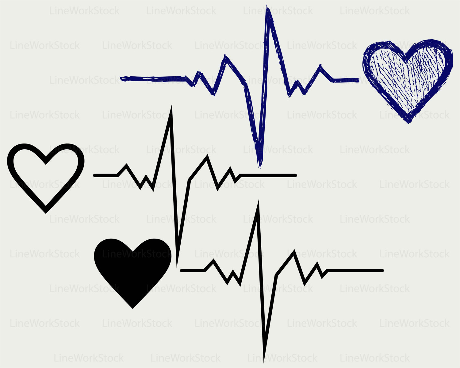 Heartbeat svg #5, Download drawings