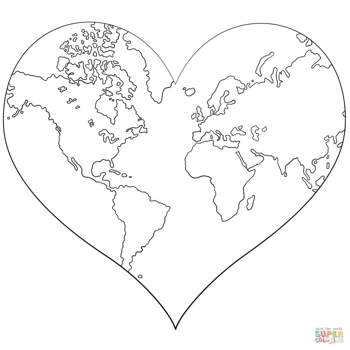 Heart-shaped coloring, Download Heart-shaped coloring for ...