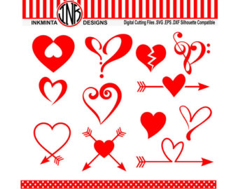 Heart-shaped svg #6, Download drawings