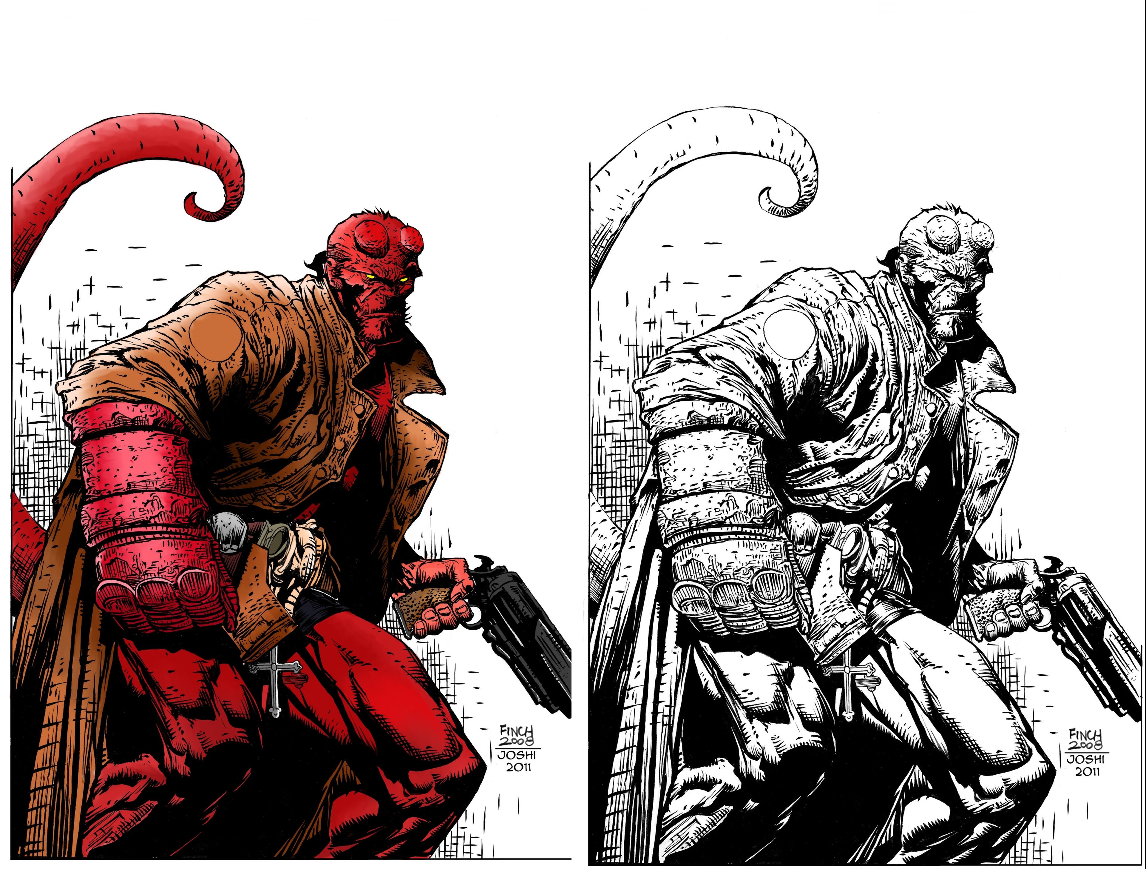 Hellboy coloring #1, Download drawings