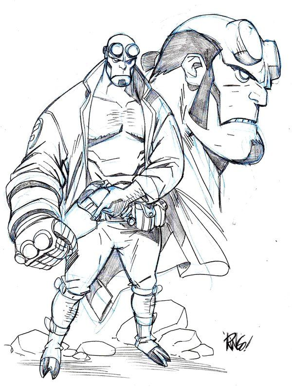 Hellboy coloring #12, Download drawings