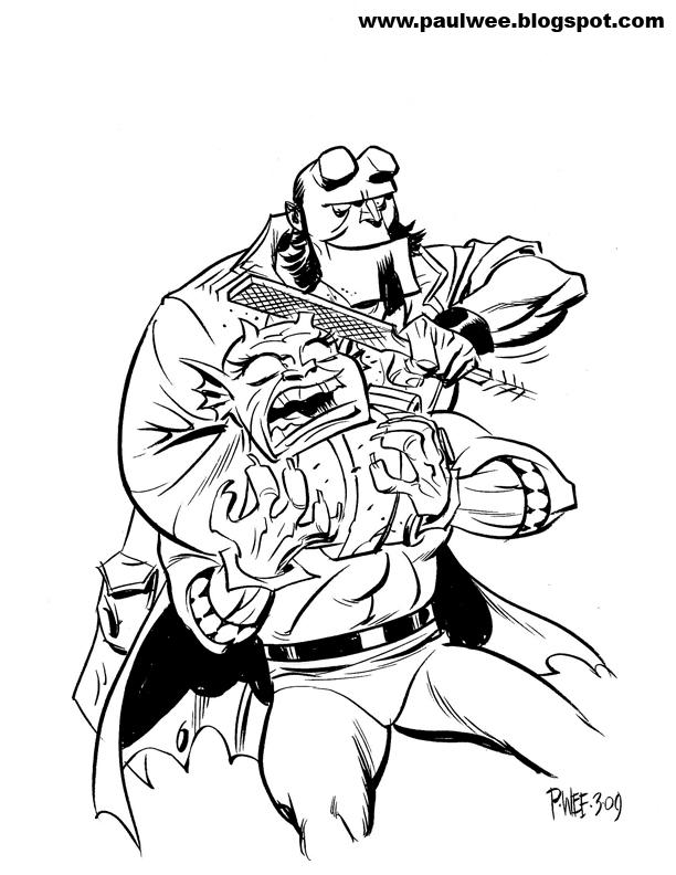 Hellboy coloring #3, Download drawings