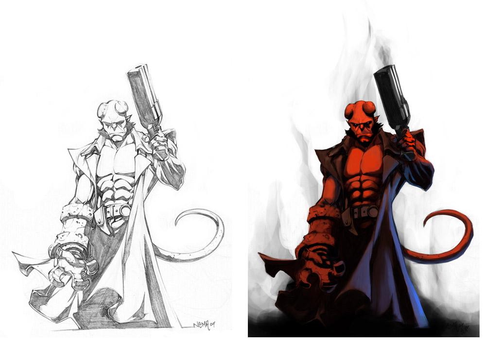 Hellboy coloring #13, Download drawings