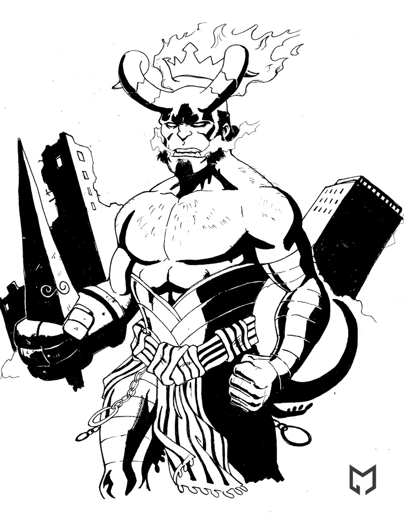 Hellboy coloring #9, Download drawings