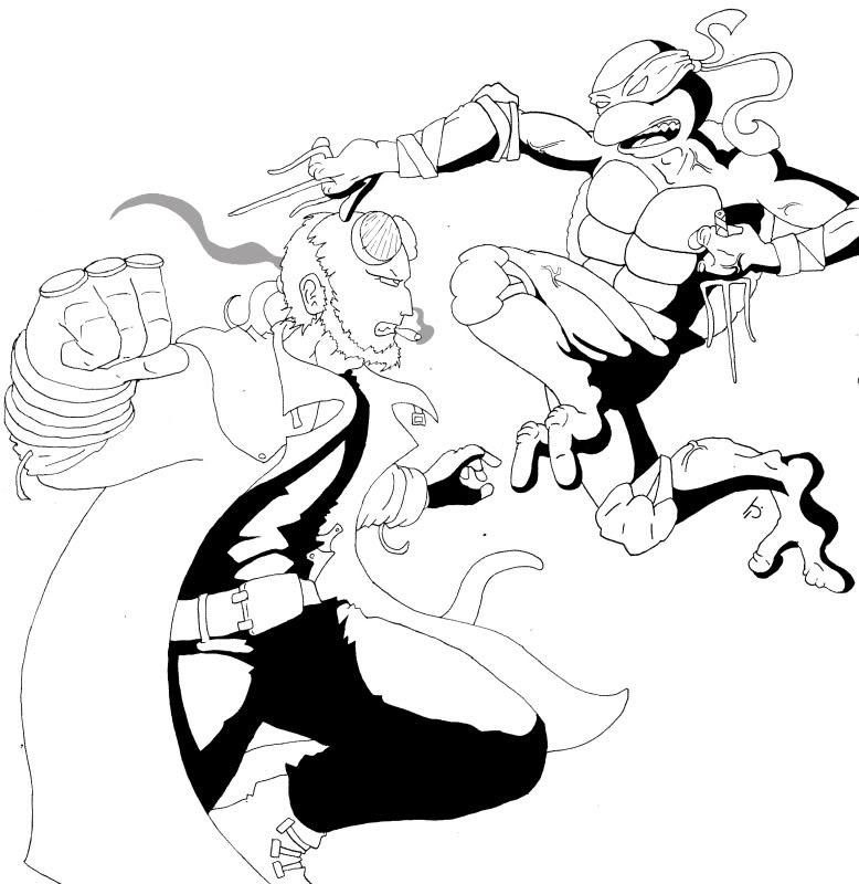 Hellboy coloring #11, Download drawings
