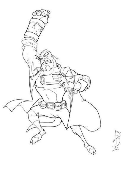 Hellboy coloring #5, Download drawings