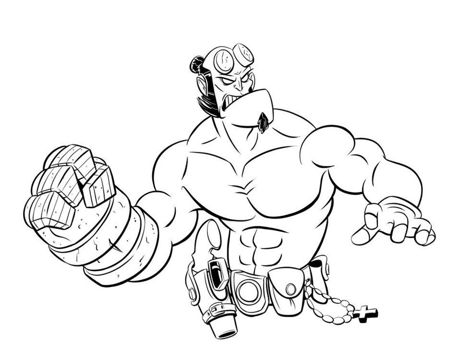 Hellboy coloring #7, Download drawings