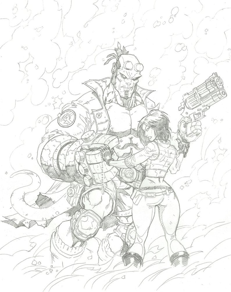 Hellboy coloring #2, Download drawings