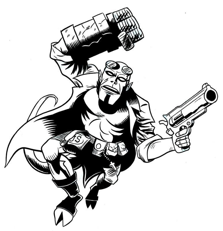 Hellboy coloring #20, Download drawings