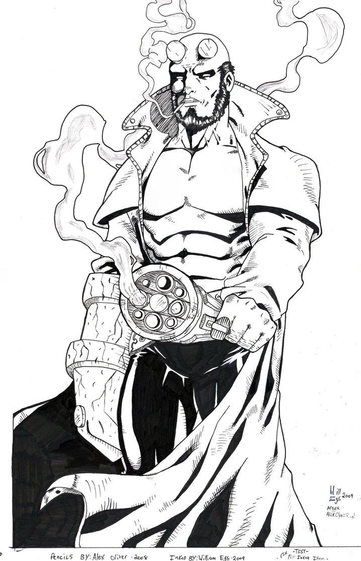 Hellboy coloring #4, Download drawings