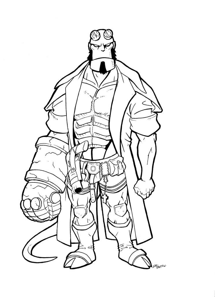 Hellboy coloring #6, Download drawings