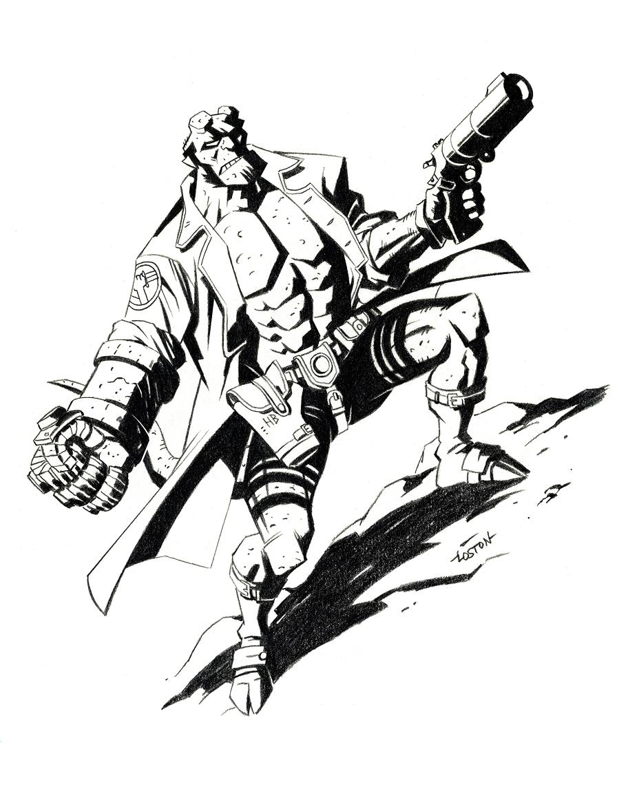 Hellboy coloring #15, Download drawings