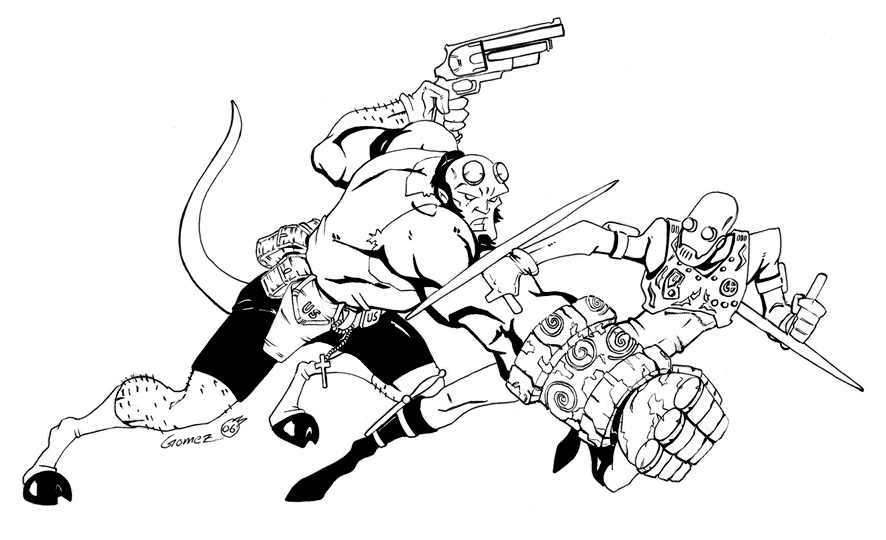 Hellboy coloring #19, Download drawings