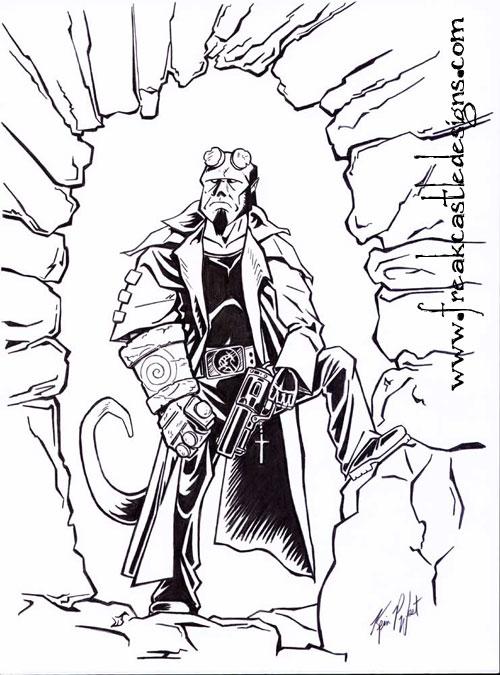 Hellboy coloring #17, Download drawings