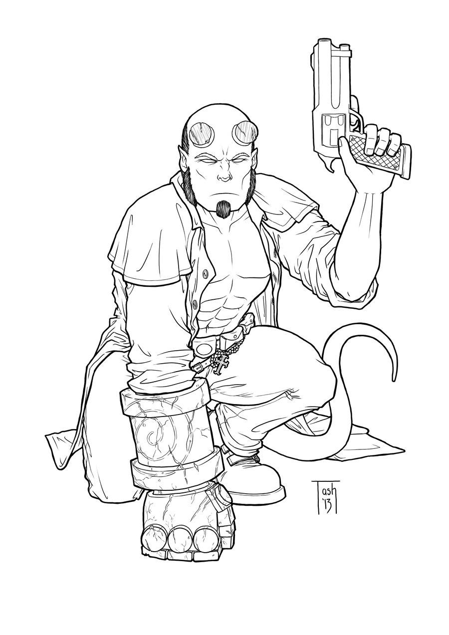 Hellboy coloring #18, Download drawings