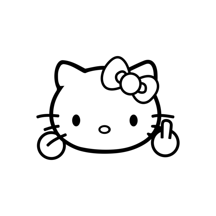 hello kitty svg #325, Download drawings
