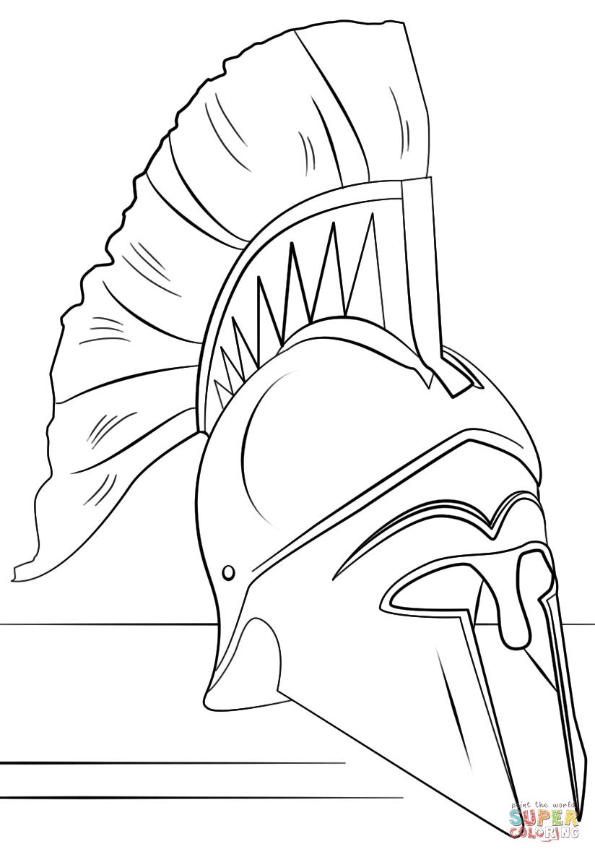 Helmet coloring #5, Download drawings