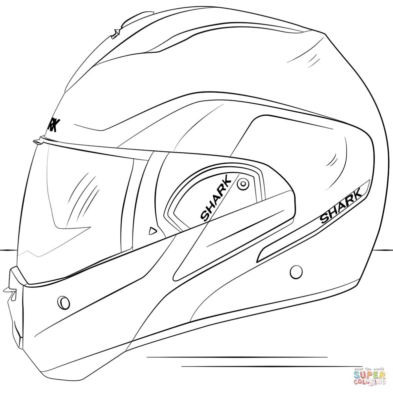Helmet coloring #12, Download drawings