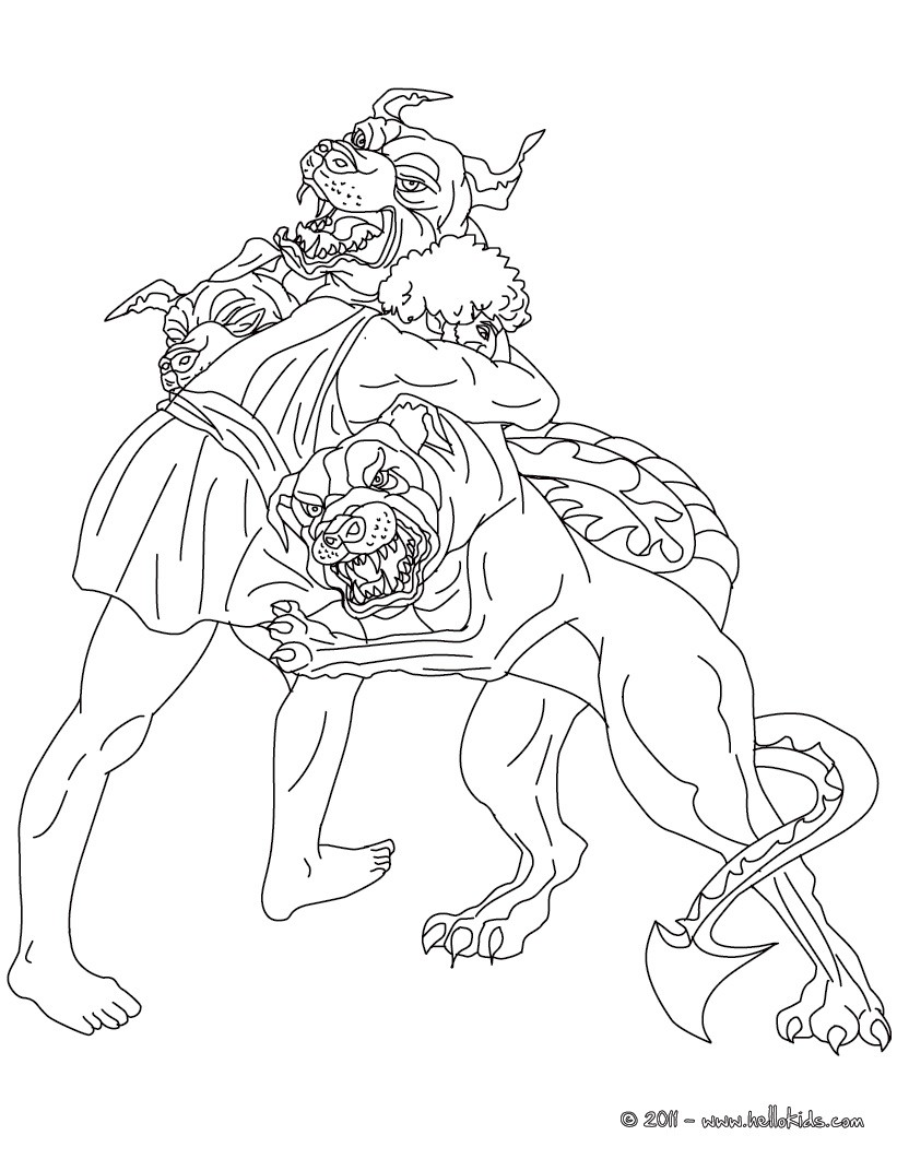 Heracles coloring #11, Download drawings