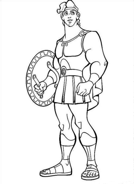 Heracles coloring #17, Download drawings