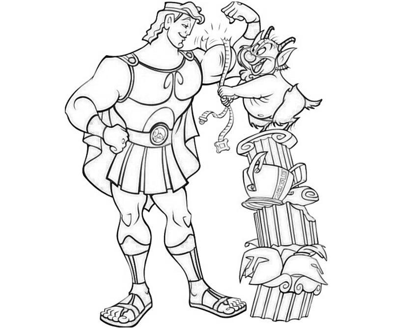 Heracles coloring #8, Download drawings
