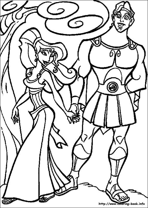 Heracles coloring #6, Download drawings