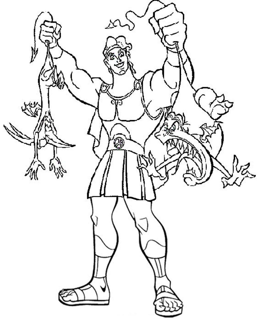 Heracles coloring #18, Download drawings