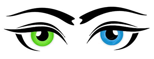 Heterochromia clipart #1, Download drawings