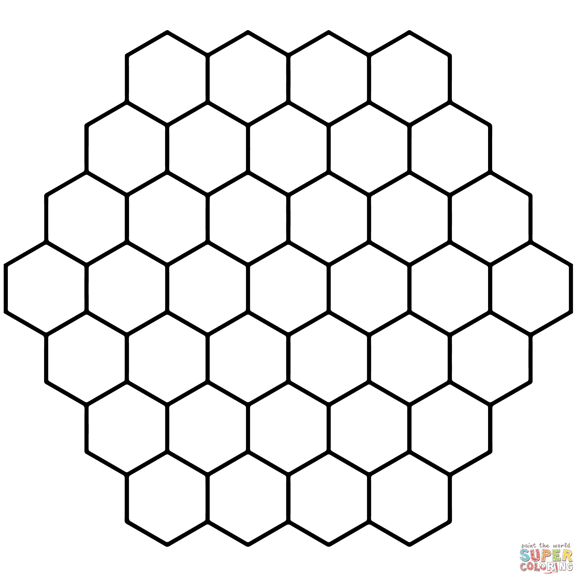 Honeycomb coloring #18, Download drawings
