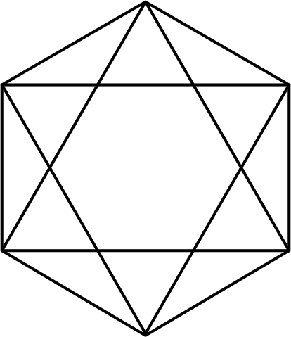 Hexagram clipart #9, Download drawings