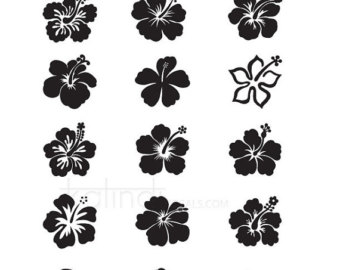 Hibiscus svg #15, Download drawings