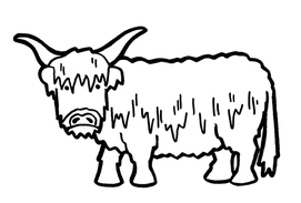 Highland Cattle coloring #18, Download drawings