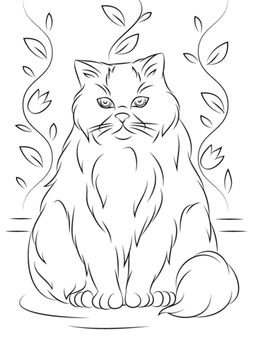 Himalayan Cat coloring #13, Download drawings