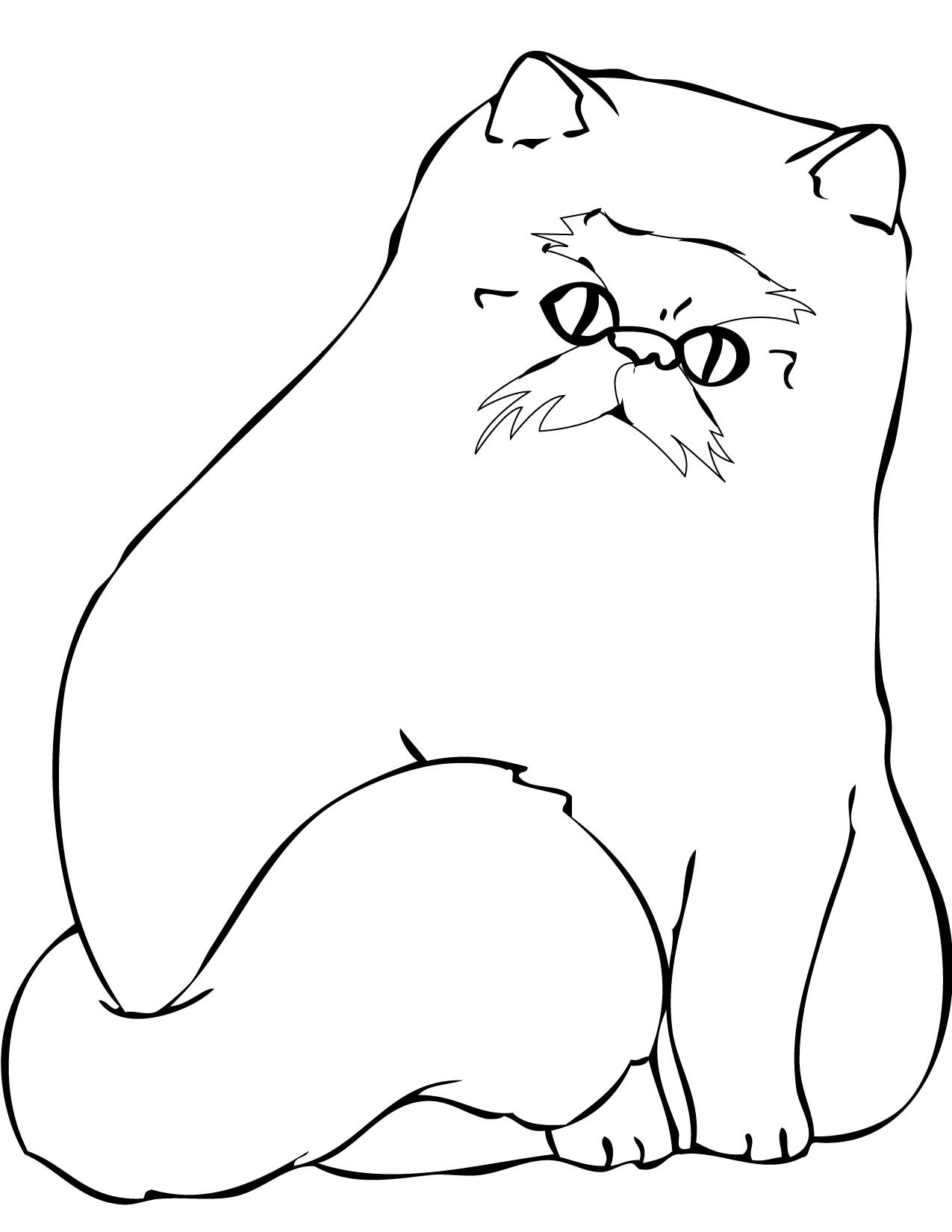 Himalayan Cat coloring #20, Download drawings