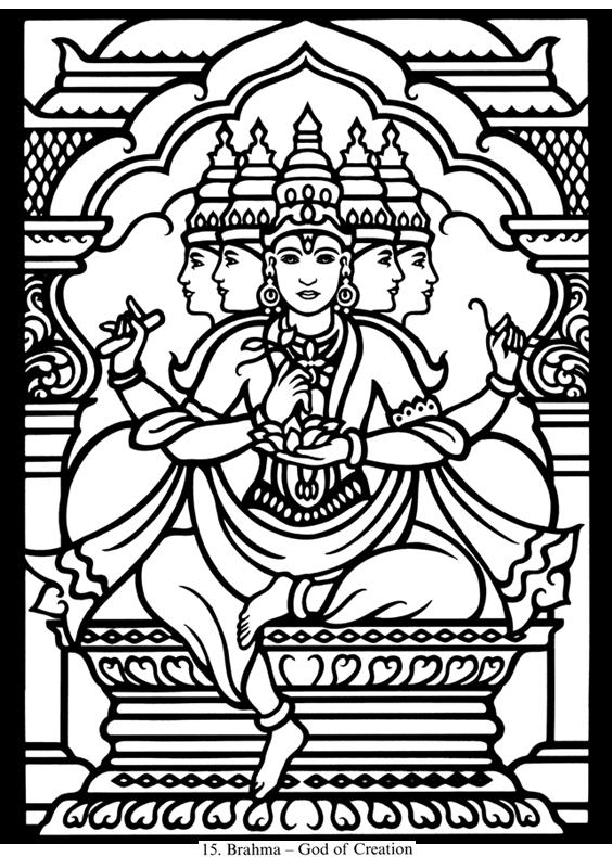Hindu coloring #13, Download drawings