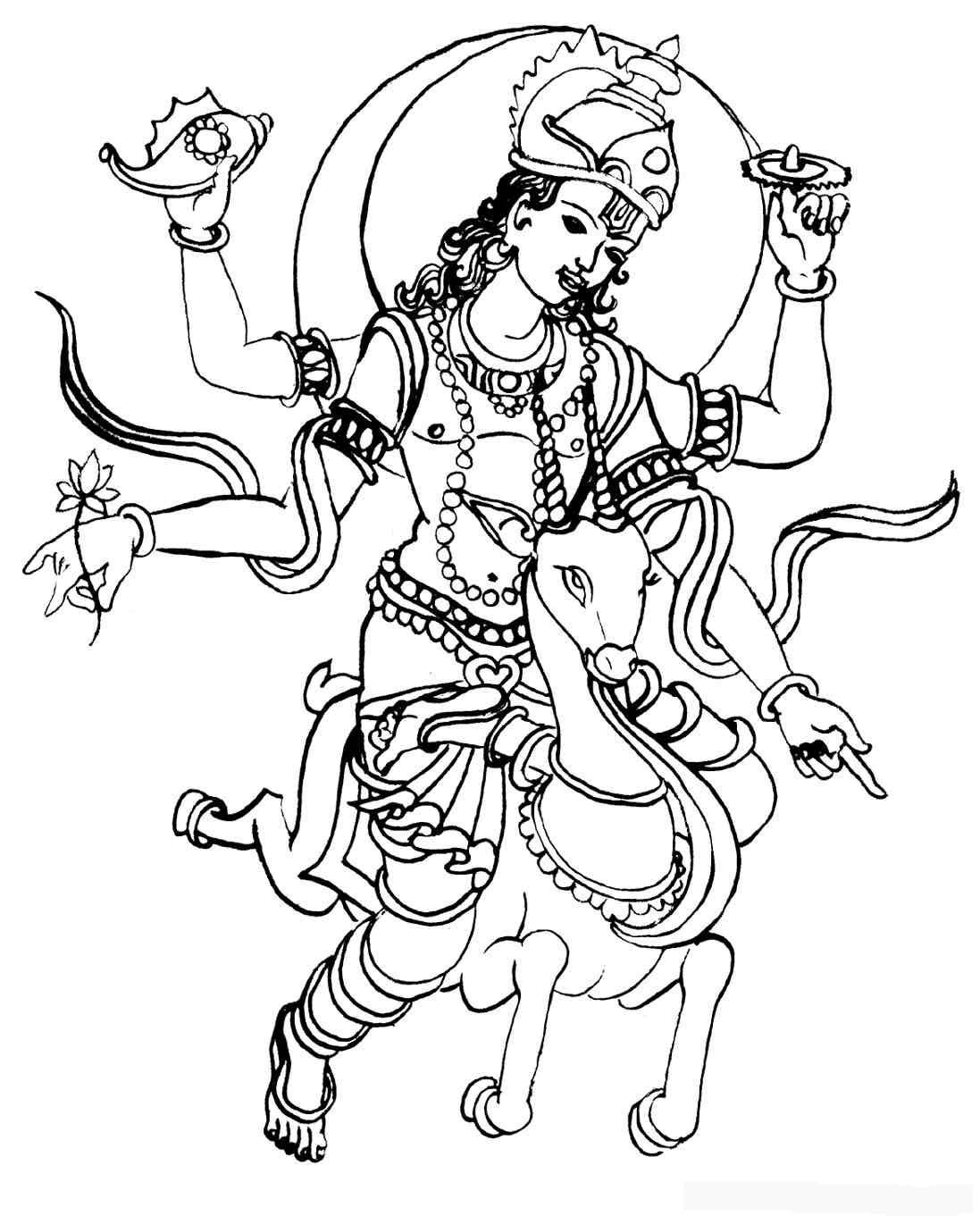 Hindu coloring #11, Download drawings