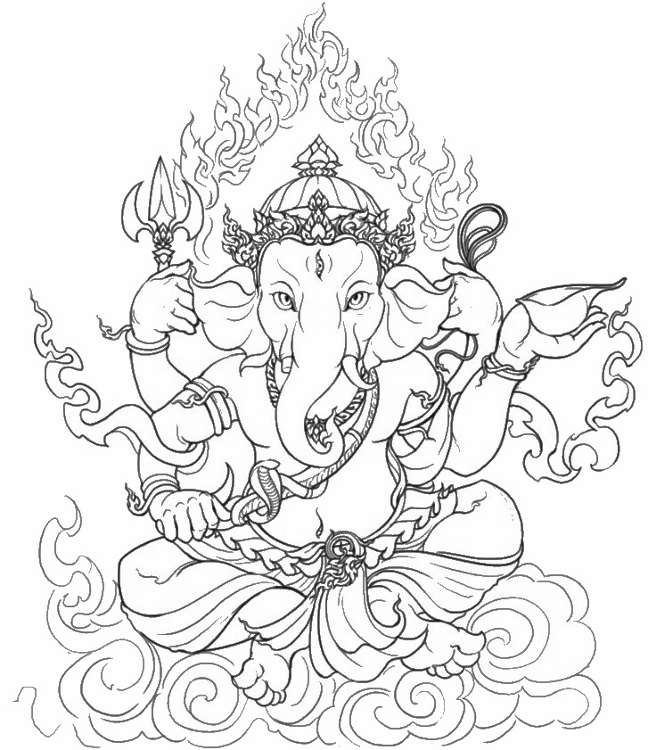 Hindu coloring #9, Download drawings
