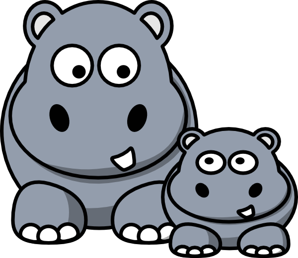 Hippo clipart #17, Download drawings