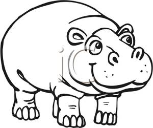Hippo clipart #10, Download drawings
