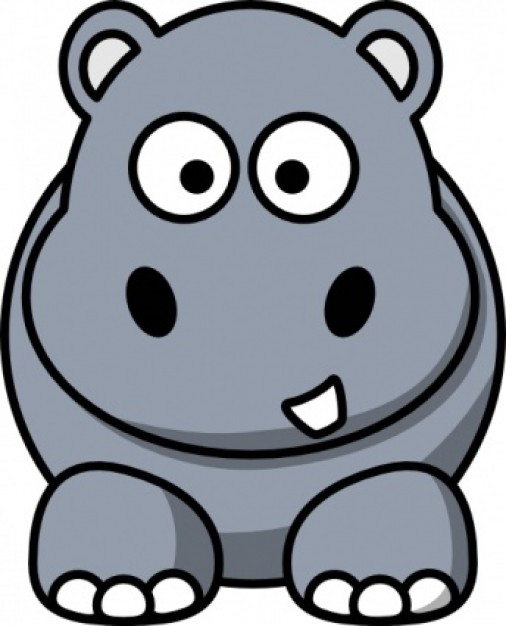 Hippo clipart #1, Download drawings