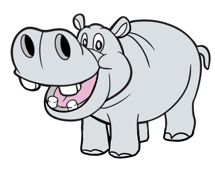 Hippo clipart #7, Download drawings