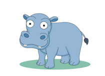 Hippo clipart #2, Download drawings
