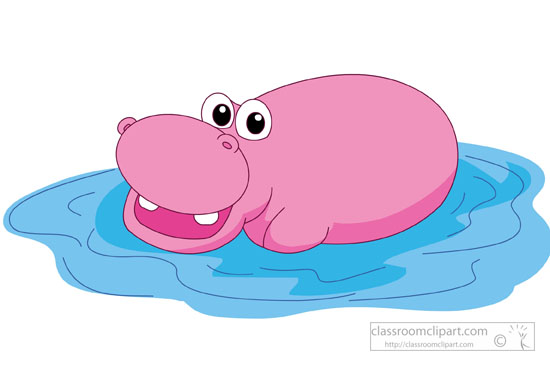 Hippo clipart #3, Download drawings