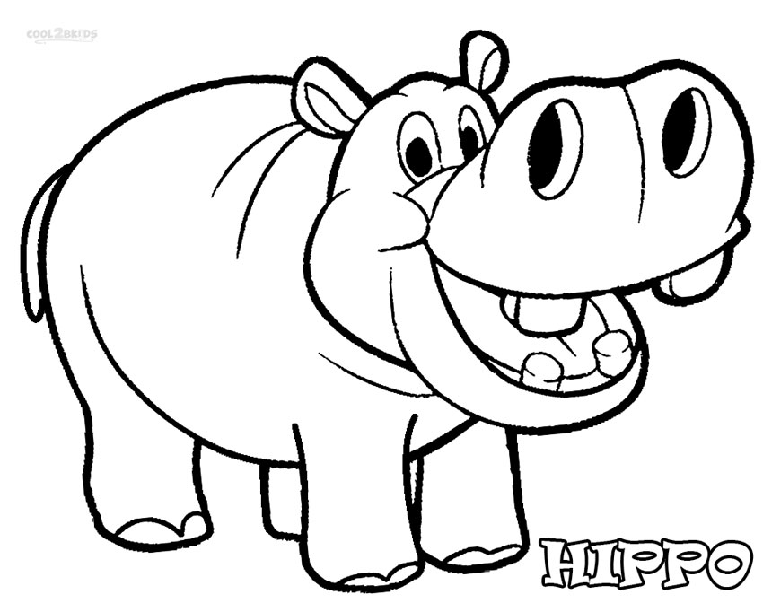 Hippo coloring #20, Download drawings