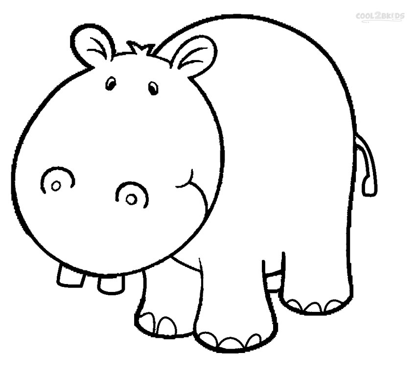 Hippo coloring #17, Download drawings